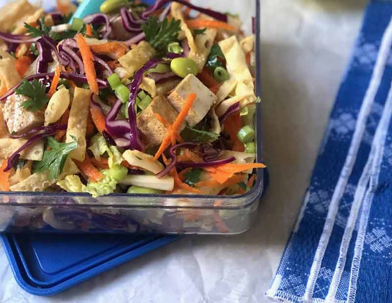 Chinese Chickenless Lunch Box Salad
