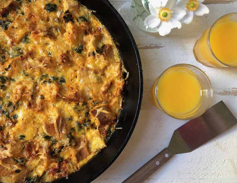 Overnight Egg Casserole with Soy Chorizo Crumbles