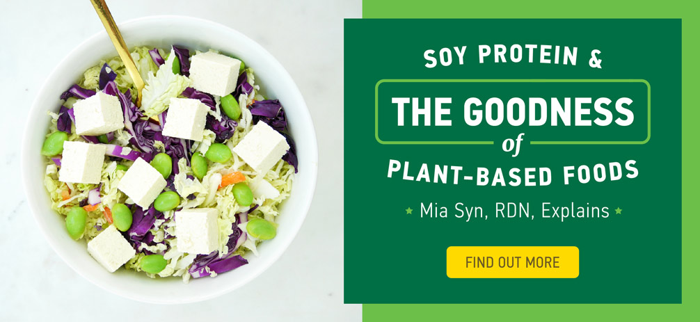Soy protein and the goodness of plant-based foods